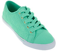 As Is Liz Claiborne New York Lace-up Eyelet Sneakers - A283518