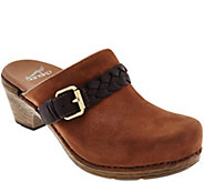 Dansko Nubuck Clogs with Buckle Detail - Melanie - A284018