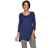 Isaac Mizrahi Live! Essentials U-Neck Tunic w/ Hi-Low Hem - A286118