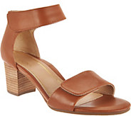 Vionic Block Heel Leather Sandals - Solana - A287718