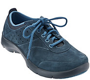 As Is Dansko Suede Stain Resistant Lace-up Sneaker Elain - A288418