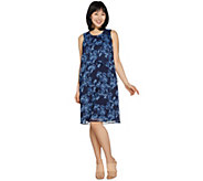 H by Halston Petite Sleeveless Floral Printed Chiffon Dress - A288618