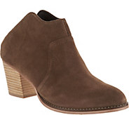 Sole Society Suede Heeled Mules - Caribou - A294218