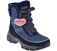 As Is Skechers DLites Lace-up Faux Fur Winter Boots - Chateau - A294818