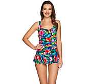 As Is DreamShaper by Miraclesuit Mary Lou Ruched Swim Dress - A295418