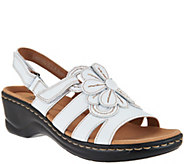 As Is Clarks Leather Lightweight Sandals - Lexi Venice - A296918