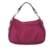 As Is JPK Paris75 SignatureFabric Expandable Lindsay Hobo - A298718