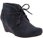 Clarks Suede Lace-up Wedge Ankle Boots - Flores Rose - A300018