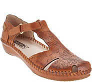 Pikolinos Leather T-Strap Shoes - Vallarta - A305618