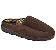 MUK LUKS Mens Ribbed Scuff Slippers - A331818