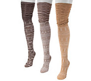 MUK LUKS Womens 3-Pair Pack Microfiber Over the Knee Socks - A355918