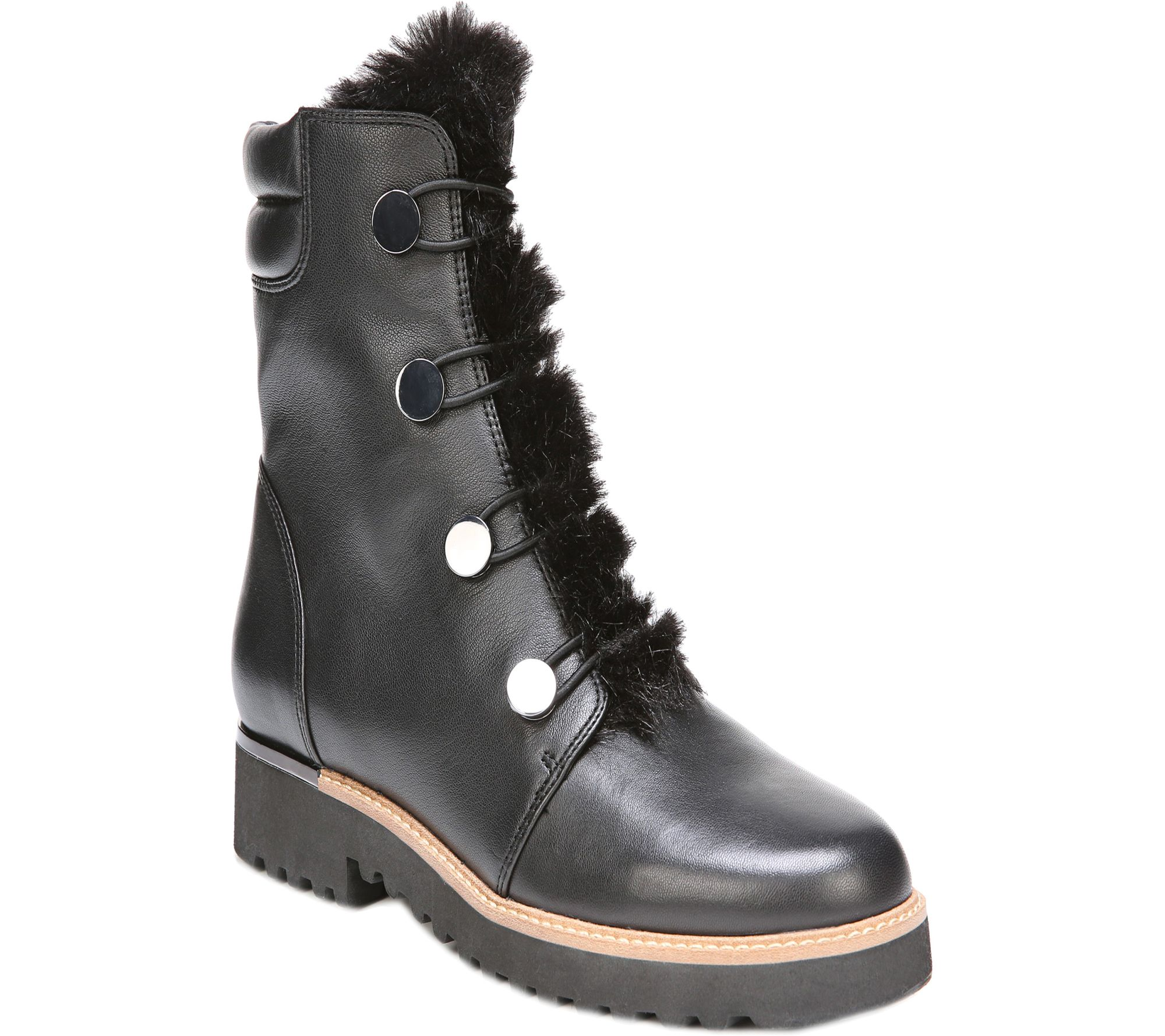 Franco Sarto Leather Ankle Boots - Crown - A362018