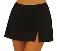 Fit 4 Ur Hips Solid Skirt with Slit - Missy - A412118