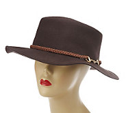 Collection XIIX Wool Gaucho Hat with Braided Trim and Link - A217219