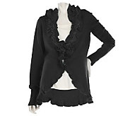M by Marc Bouwer Ruffle Cardigan with Metallic Detail - A218819
