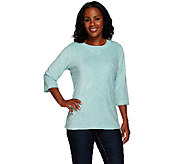 Denim & Co. 3/4 Sleeve Knit Terry Tunic - A219919