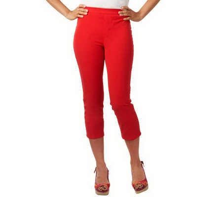 Isaac Mizrahi Live! 24/7 Stretch Cropped Pull-On Pants