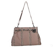 As Is F by Fortuna Valentino Leather Chic Chain Hobo Bag - A226519