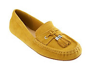 Isaac Mizrahi Live! Suede Moccasins with Tassel Detail - A231219