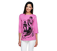 Bob Mackies Legendary of Queen 3/4 Sleeve T-Shirt - A234119