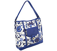 Isaac Mizrahi Live! Bridgehampton Printed Canvas Hobo Bag - A253919
