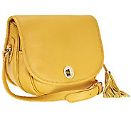 As Is Isaac Mizrahi Live! Bridgehampton Leather Crossbody - A256119