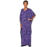 Joan Rivers Regular Length Paisley Jersey Knit Caftan - A262819