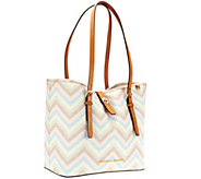 Dooney & Bourke Multi Chevron Dover Shopper - A263619