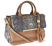 Aimee Kestenberg Kira Pebbled Leather Large Satchel - A267419