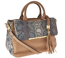 Aimee Kestenberg Kira Pebbled Leather Large Satchel