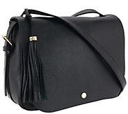 Isaac Mizrahi Live! Nolita Pebble Leather Saddle Bag - A267719
