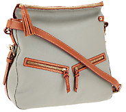 As Is Dooney & Bourke Pebble Leather Zip Sac - A268119