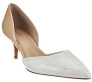 G.I.L.I. Leather Two-piece Mid-heel Pumps - Estelle - A268219