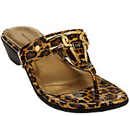 As Is Marc Fisher Thong Sandals w/ Hardware Accent - Alining - A270119