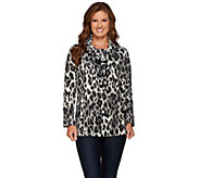 Susan Graver Weekend Printed Polar Fleece Long Sleeve Pullover Top - A270319