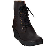 FLY London Leather Lace-up Ankle Boots - Ygot - A270819