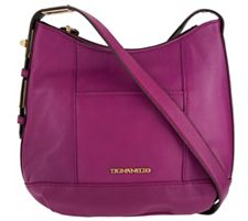 Tignanello Pebble Leather Crossbody with Turnlock Detail