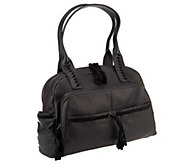 As Is Muxo_by Camila Alves Pebble Leather Large Pocket Satchel - A274919
