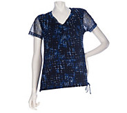 As Is Kelly by Clinton Kelly Short Sleeve Lined Mesh Top - A276719