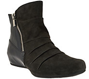 Earthies Leather & Suede Hidden Wedge Ankle Boots - Pino - A278419