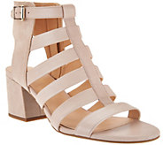 Franco Sarto Leather Multi-strap Open Toe Sandals - Mesa - A288519