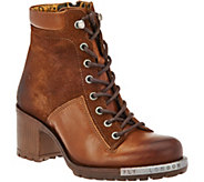 As Is FLY London Leather Lace-Up Boots - Leal - A290719