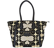 Mushmina Woven Pattern & Leather Tote Bag - A297019