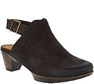 Naot Suede Block Heel Mules - Upgrade - A297319