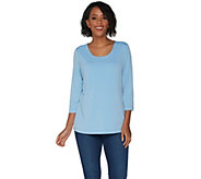 Susan Graver Modern Essentials Liquid Knit Fully Lined Top - A303119