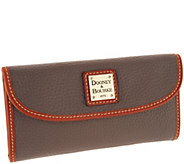 As Is Dooney & Bourke Pebble Leather Continental Clutch Wallet - A304619