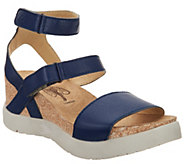 FLY London Leather Ankle Strap Wedges - Wink - A305119