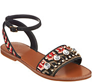 Vince Camuto Embroidered Sandals w/ Ankle Strap - Akitta - A306419