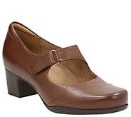 Clarks Artisan Leather Mary Jane Pumps - Rosalyn Wren - A341219
