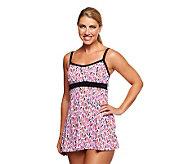Fit 4 U Thighs Shellborne Empire Swim Dress - A231120